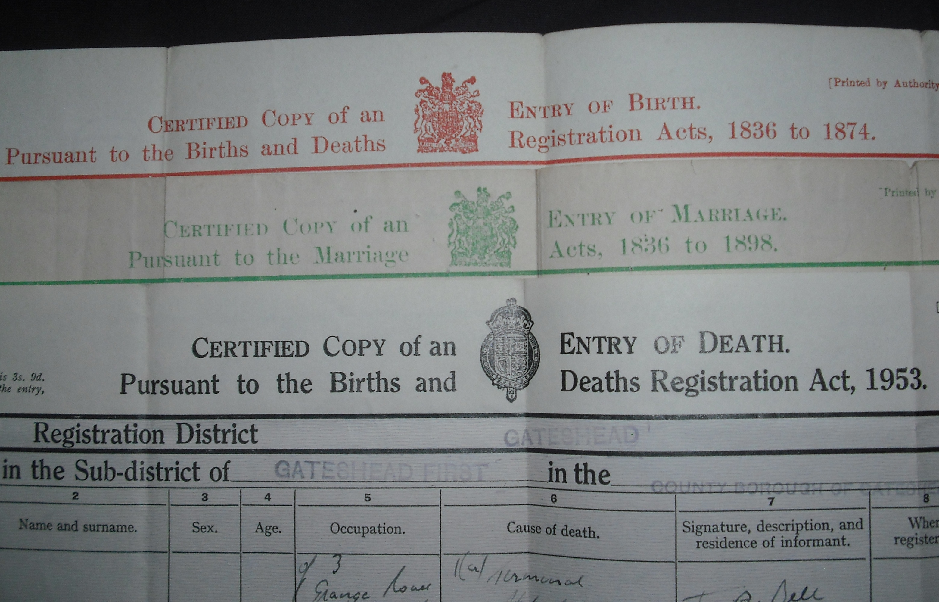 Birth marriage and death canberra act